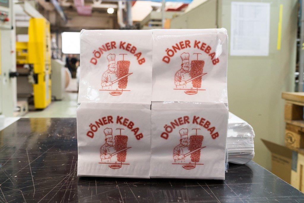 Papírová kapsa na Döner kebab